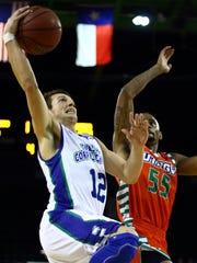 Texas A&M-Corpus Christi's Jake Kocher (12) shoots