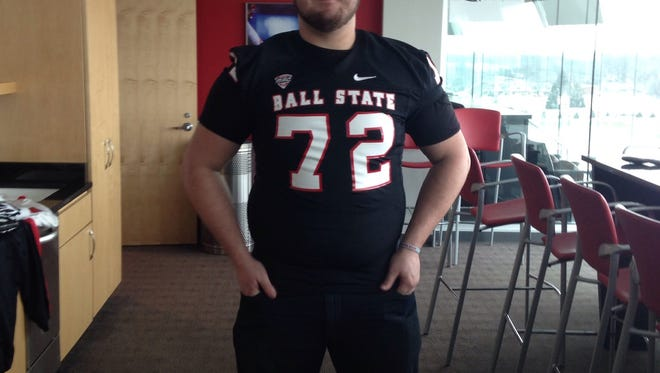 Anthony Todd during a visit to Ball State