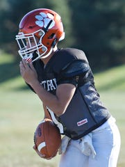 Central York's wide receiver Mark Santos during football