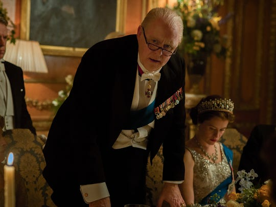 In Netflix's 'The Crown,' Winston Churchill (John Lithgow)