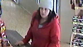 New Castle County police are looking for this woman who they say forced her way into a home and took cash and credit cards.