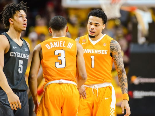 Jan 27, 2018; Ames, IA, USA; Tennessee Volunteers guard