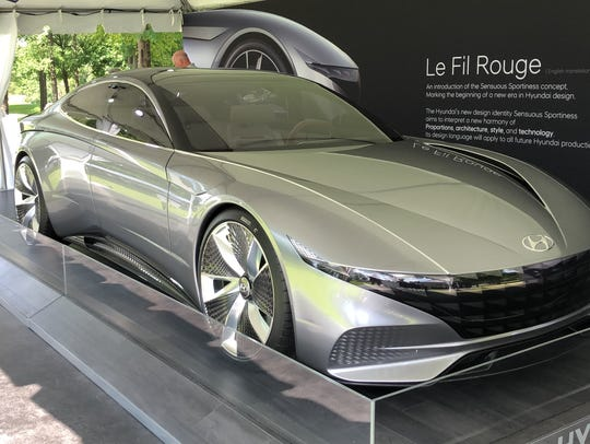 Hyundai's Le Fil Rouge concept car makes its first