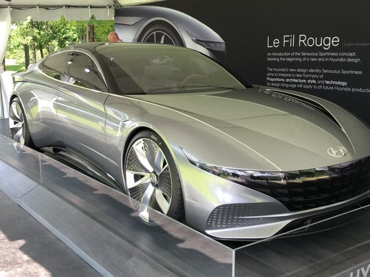 Hyundai's Le Fil Rouge concept car makes its first U.S. appearance at the Concours d'Elegance of America.