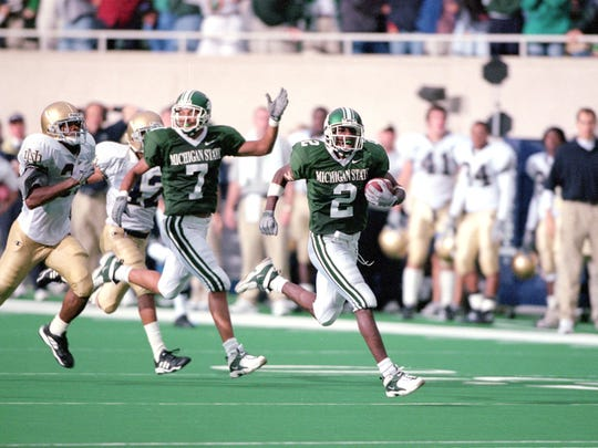Herb Haygood's touchdown catch to beat Notre Dame in 2000 was the highlight of an otherwise frustrating MSU football season.
