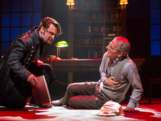 """Rob Riddle and Stephen Bogardus star in the Delaware Theatre Company's production of """"Something Wicked This Way Comes."""""""
