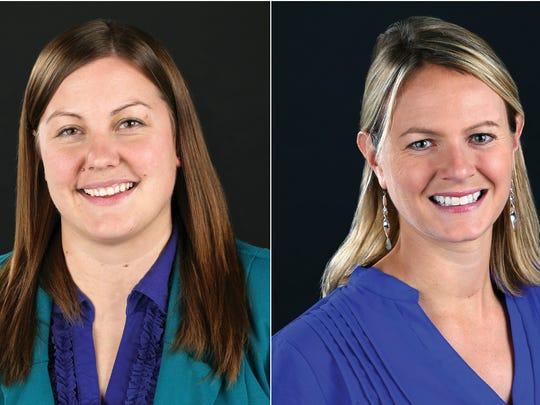 Annah Backstrom, left, will succeed Carol Hunter as