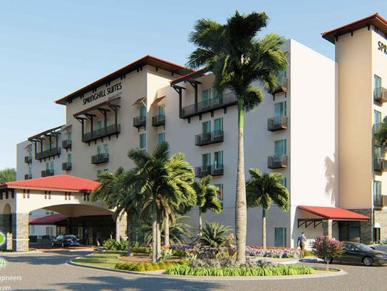 A rendering shows a 100-room Springhill Suites Marriott