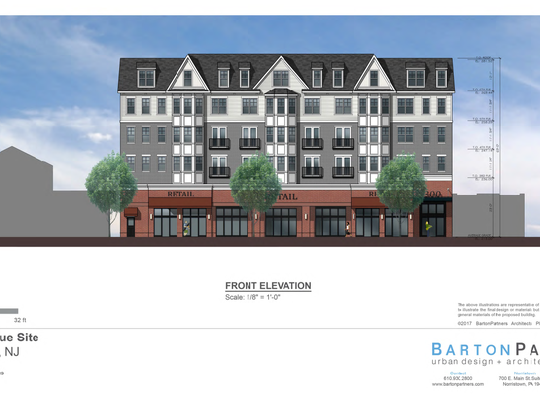 An artist's rendering of plans for a new five-story