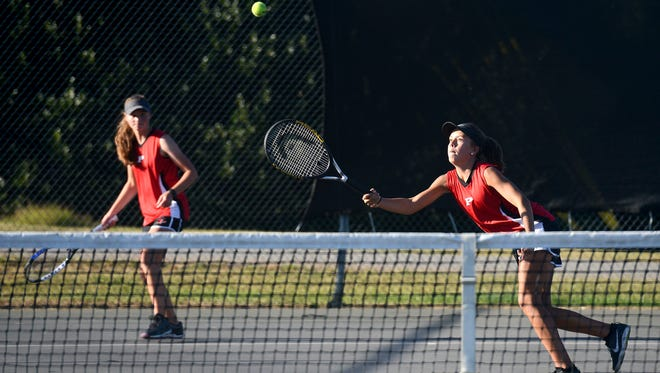 Pisgah's Maeanna Norris and Allie Fisher.