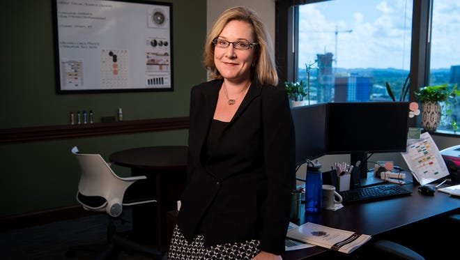 Laura Berlind, Executive Director of The Sycamore Institute, poses for a portrait at their office in Nashville, Tenn., Wednesday, Aug. 16, 2017.