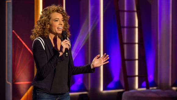 Michelle Wolf, seen in a test show for her new weekly