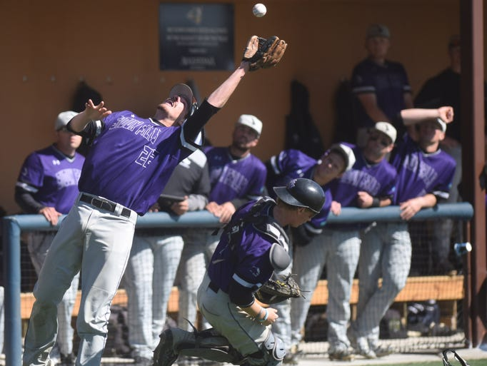 University of Sioux Falls' Dylan Gavin catches a fly