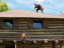 Historic Fort Ouiatenon Blockhouse gets a new roof