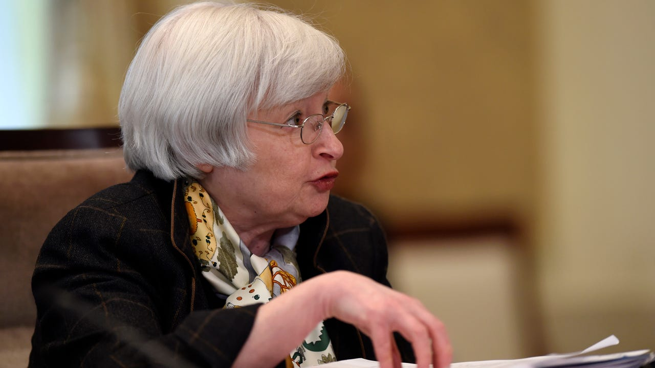 Stocks ended mixed as Federal Reserve Chair Janet Yellen capped off a day filled with interest rate speculation.