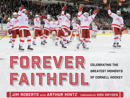 A photo of the new book on Cornell hockey history that