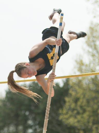 Ellie Zimmerman of Hartland clears 10 feet 3 inches