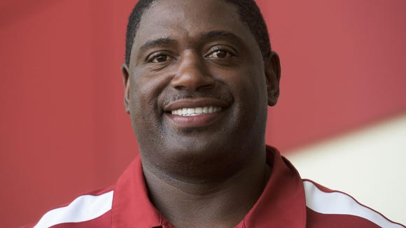 John Copeland in Tuscaloosa, Ala. on Tuesday July 28, 2015. Copeland, an Alabama and Cincinnati Bengals football standout, will blog about Alabama football games this season.