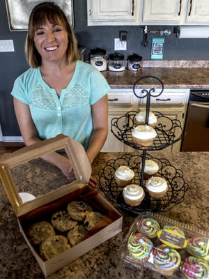 Mandi Sutter runs A Little of Bake Shop out of her Newark home. Sutter bakes cupcakes and cookies for weddings, showers and office parties.