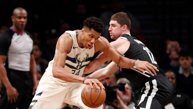 After defeating the Nets on Sunday, Bucks forward Giannis Antetokounmpo made a fan very happy.