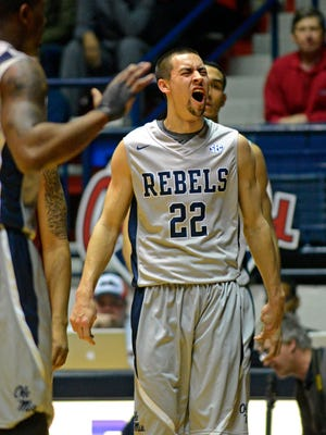 Mississippi's Marshall Henderson set an SEC mark for consecutive games with a three-pointer, 61.