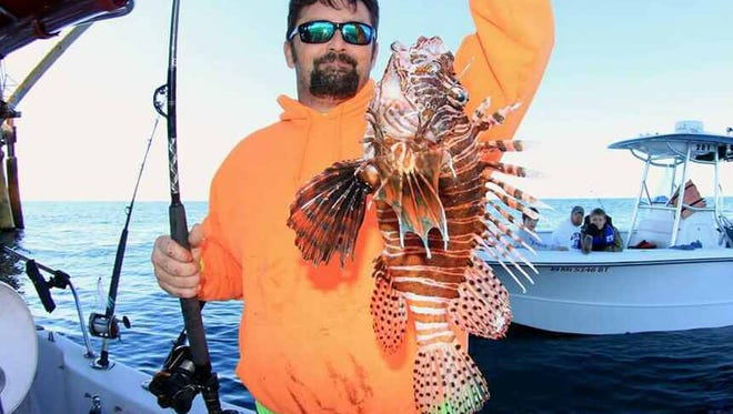 Jason Jones of Biloxi established a state record for Lionfish, which he caught Feb. 7. The fish weighed  1 pound, 11.20 ounces.
