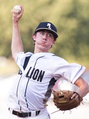 Red Lion's Brett Alaimo throws a pitch during the second