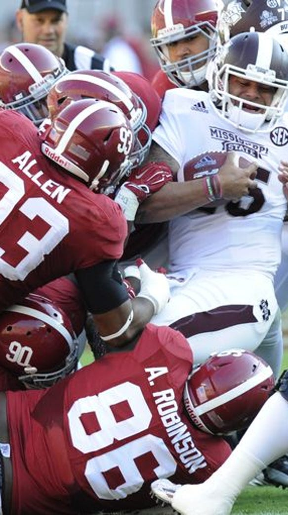Alabama moved atop the College Football Playoff poll
