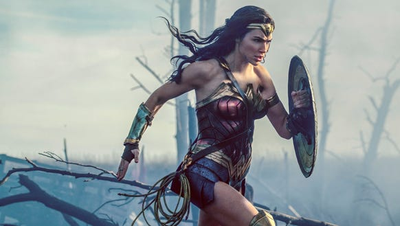 Gal Godot as Wonder Woman in a scene from the film.