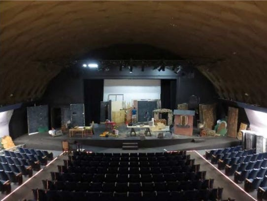 Inside look of Main Street Playhouse in Downtown Visalia.