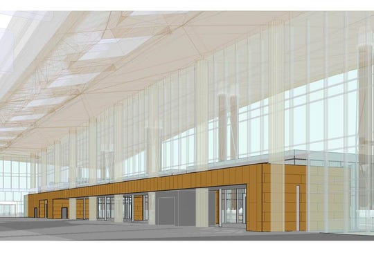 This rendering shows a proposed expanded concourse