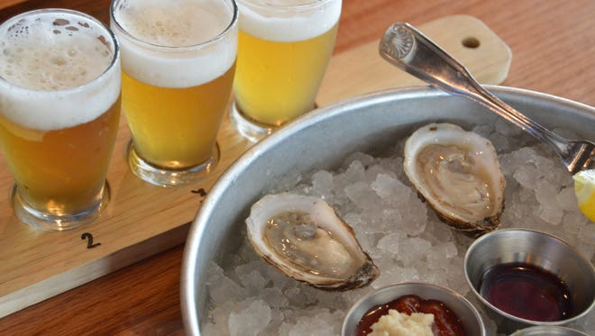 """""""Beer and oysters are the perfect combination,"""" Andrew Harton, Big Oyster Brewery's head brewer, says."""