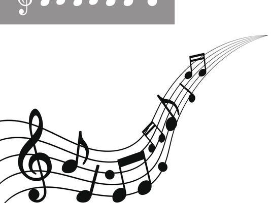 Musical notes on Scale. Music note icon set. Vector illustration