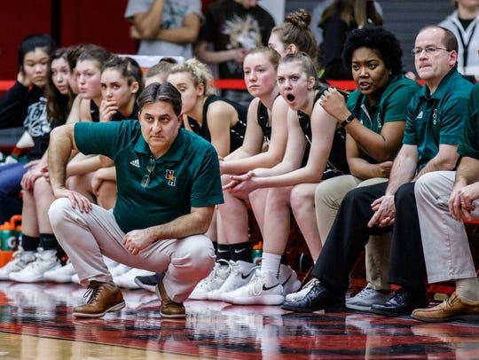 West Allis Nathan Hale head coach George Sotiros looks