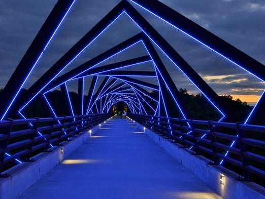 The High Trestle Trail Bridge is now the most popular