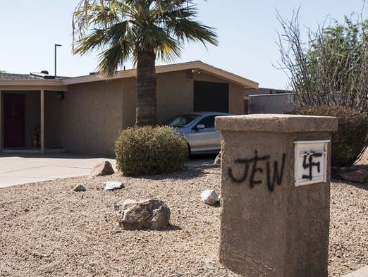 A Phoenix couple found anti-Semitic messages on their