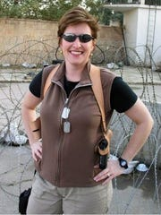 Ellen Adams in Baghdad, where she served for four months.