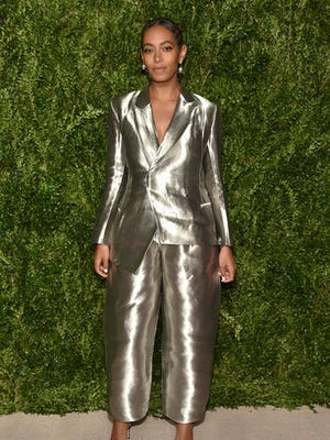 Solange Knowles attends the 13th Annual CFDA/Vogue Fashion Fund Gala at Spring Studios on Monday, Nov. 7, 2016, in New York. (Photo by Evan Agostini/Invision/AP)