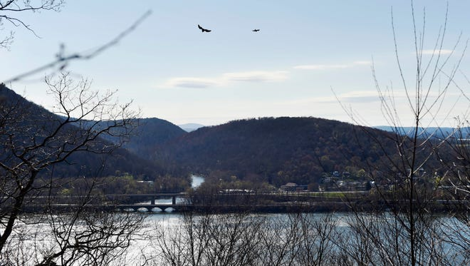 One of several views of the Susquehanna River from the Appalachian Trail on Peter's Mountain in Reed Township, under an hour from York.
