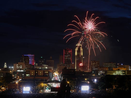 Thousands gathered on the Iowa Capitol grounds in Des Moines to hear the 23rd Yankee Doodle Pops concert, followed by fireworks, on Friday, July 1, 2016.