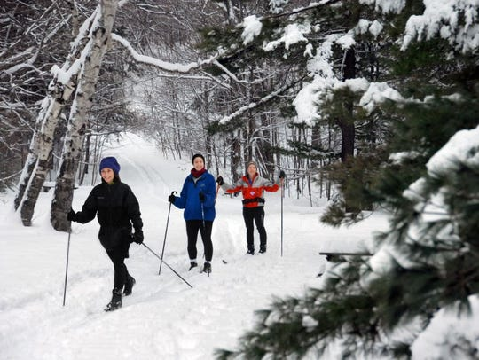 Cross-country skiing is one of the many outdoor winter