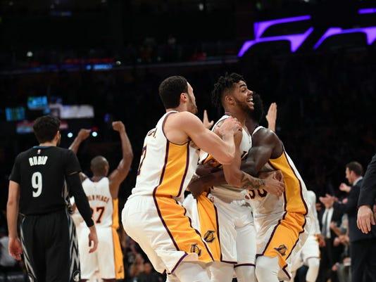 USP NBA: MINNESOTA TIMBERWOLVES AT LOS ANGELES LAK S BKN LAL MIN USA CA