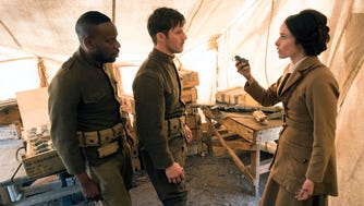 """Timeless"" (NBC): Malcolm Barrett, Matt Lanter and Abigail Spencer travel in time to try and stop a mysterious organization from changing history."