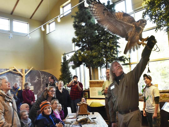 Open Door Bird Sanctuary executive director Rob Hults and crew conducted a meet-and-greet with owls, including this Eurasian eagle owl named Aisling, as part of last year's Owl-A-Rama at The Ridges Sanctuary. The all-about-owls program returns March 3.
