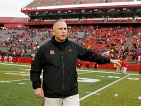 Rutgers football coach Kyle Flood moved training camp practice to early afternoons after conferring with others at the college and NFL levels. (AP)