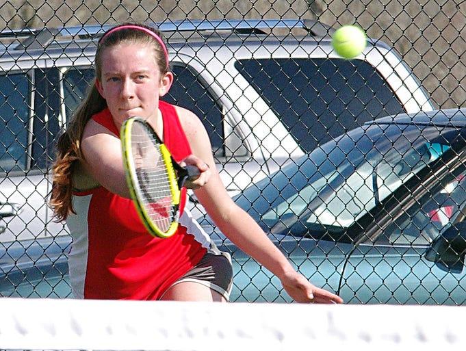 Alison Flowers - Creek Wood tennis vs. Waverly, April 1.