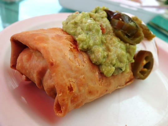 The Pack: Shredded Beef Chimichanga at Mangos Mexican