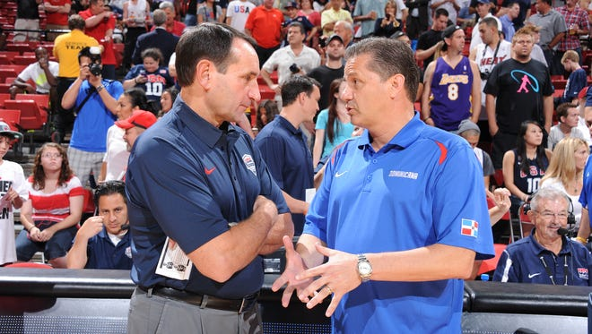 Hall of Fame coaches Mike Krzyzewski  and John Calipari square off in the Champions Classic.