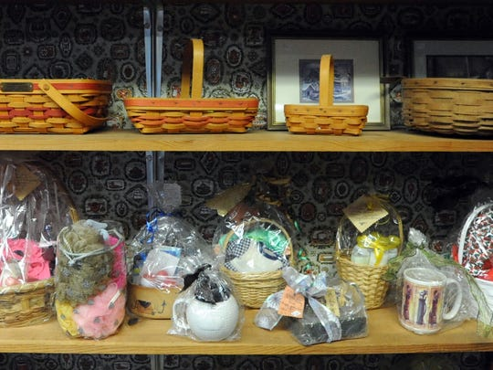 A vareity of items fill the shelves at Sue & Vic's Thrift and Gift, 474 N. Main St.