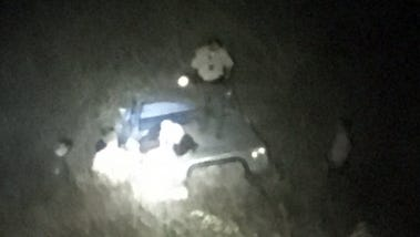 Three people were taken to a local hospital after they were involved in an apparent off-roading accident Thursday night in Newbury Park, officials said.